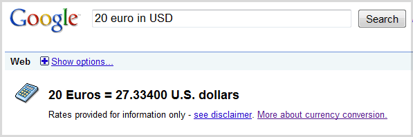 google-currency-converter
