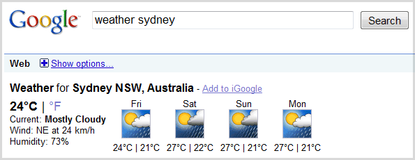 google-weather-sydney